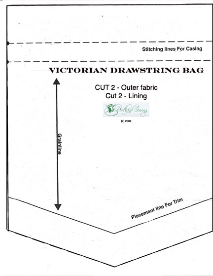 Victorian Drawstring Bag - Portland Fashion Institute