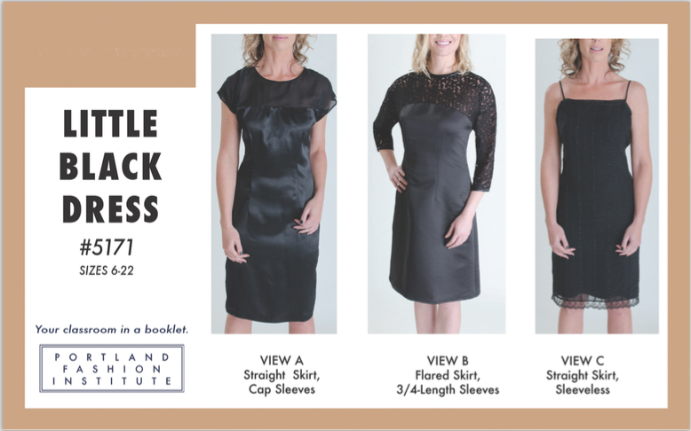 PFI's Little Black Dress offers options for straight or flared skirts, plus sleeveless, cap or 3/4-length sleeves. And it doesn't have to be black!