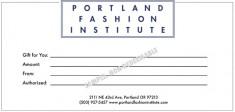 portland fashion institute gift card