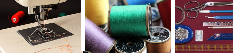sewing machine thread and materials