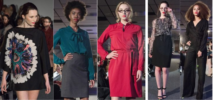 stephanie dress and jumper designs in black green and red
