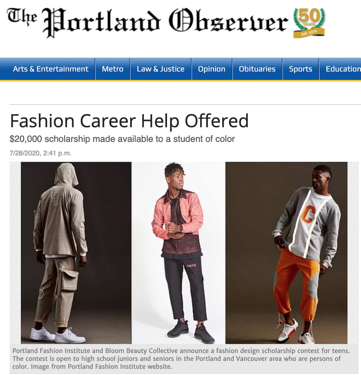 Fashion Career Help Offered Portland Fashion Institute